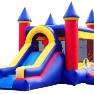 Blue & Red Inflatable Jump Combo